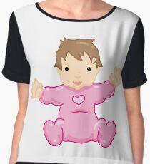 pink baby Chiffon Top