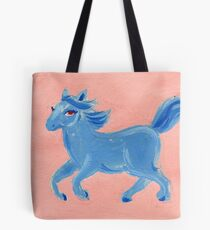 Blue Horse - Spirit Animal Tote Bag