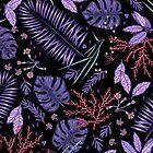 Purple summer garden by smalldrawing