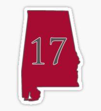 Alabama 17 national champions Sticker