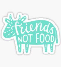 Friends not food. Cow silhouette Sticker