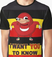 Knuckles wants you in the Ugandan Army Graphic T-Shirt