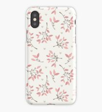 Pink Floral Print V iPhone Case