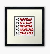 Caddyshack Rules Sign Framed Print