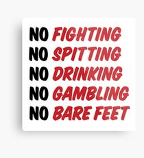 Caddyshack Rules Sign Metal Print