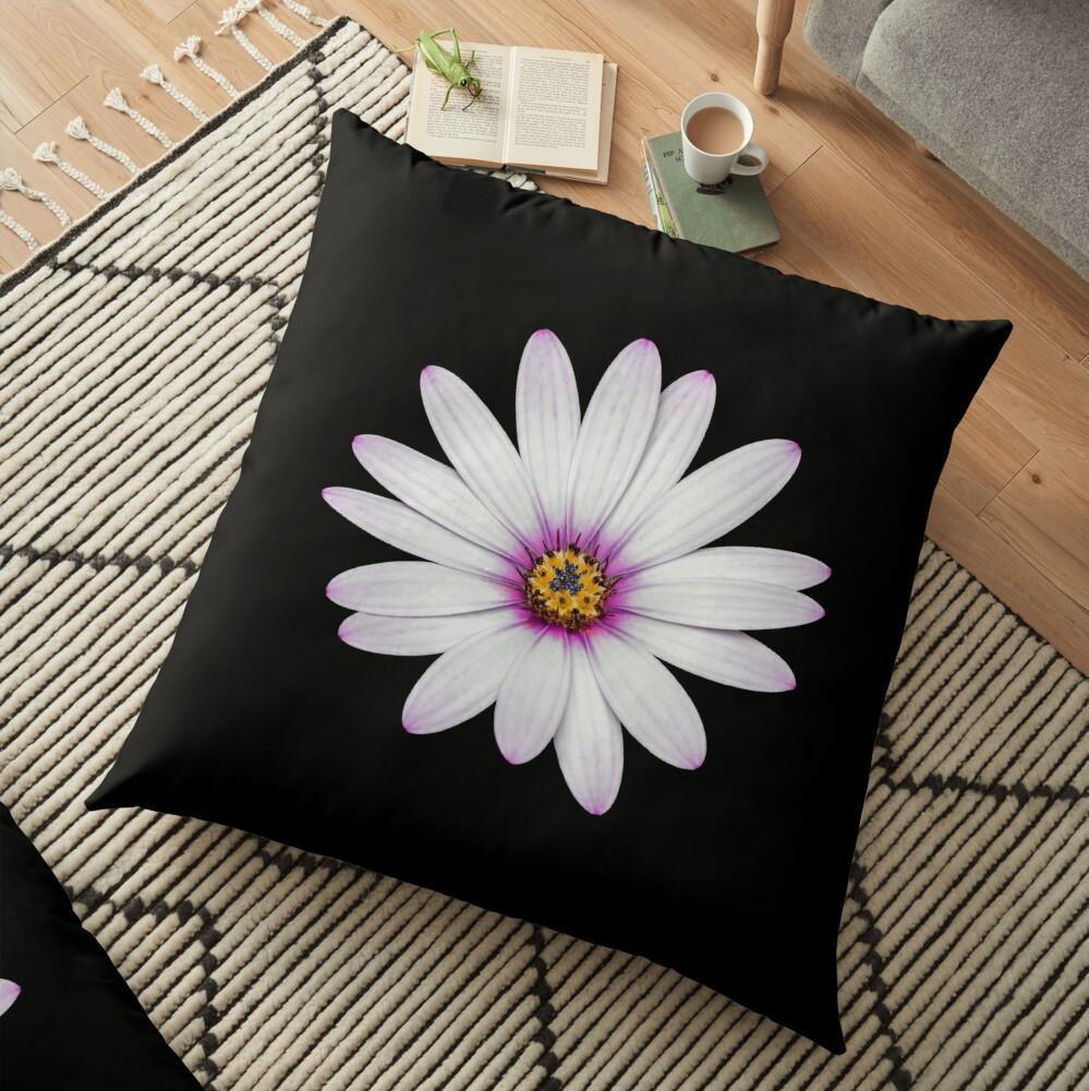 African Daisy Floor Pillow