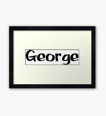 George Name - Inspired from the Color of Money Framed Print