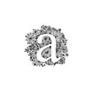 Floral calligraphic print with letter A by ychty