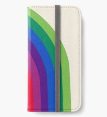 Vinilo o funda para iPhone Groovy - arco iris de los años 70 de los años 70 estilo retro throwback minimal happy hippie art decor