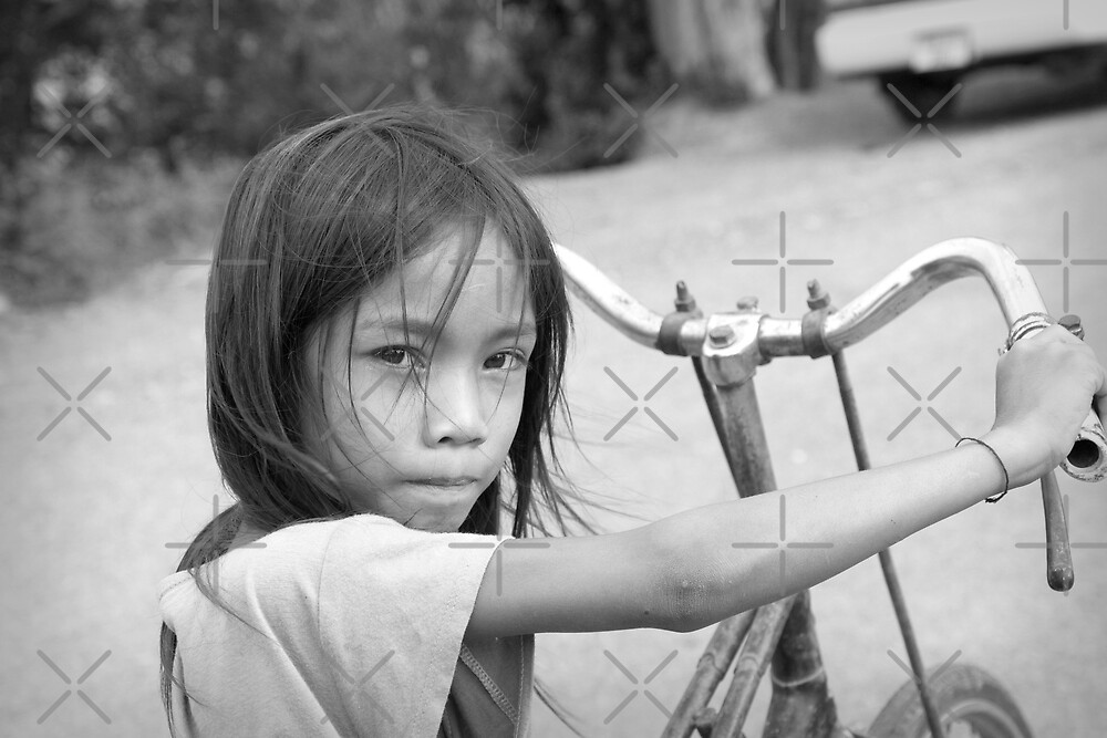 Girl with Bike by Adrianne Yzerman