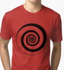 #target #aim #accurate #dart #accuracy #hittarget #dartboard #archery #bullseye #spiral #goal #circular #license #arrow #patent #design #vortex #blackandwhite #monochrome #copyspace #circle  Tri-blend T-Shirt