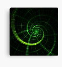 Green lines Canvas Print