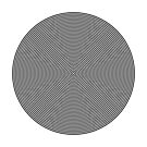 Offset Concentric Circles Pattern 002 by Rupert Russell