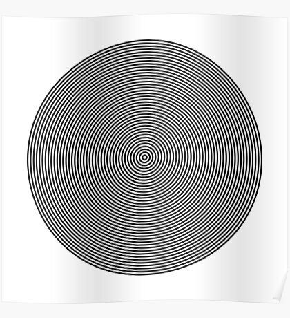 Offset Concentric Circles Pattern 002 Poster