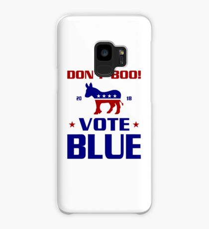 Dont Boo Vote Blue 2018 Case/Skin for Samsung Galaxy