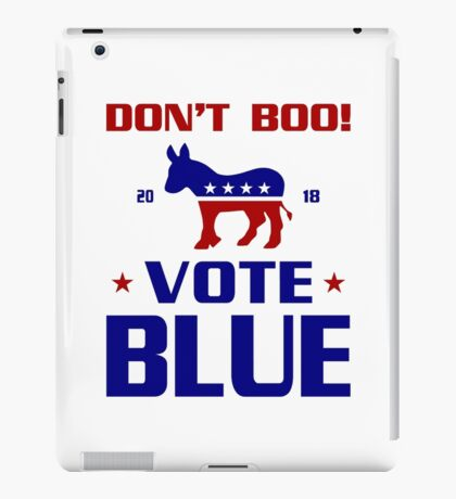 Dont Boo Vote Blue 2018 iPad Case/Skin