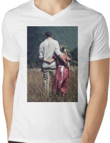 father and daughter Mens V-Neck T-Shirt