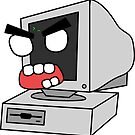 angry zombie retro PC by shortstack