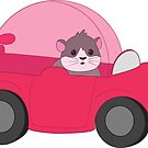 Hamster Driving A Car by ShellyG14