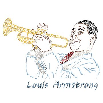 Louis Armstrong The Jazzman by Karotene