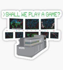 War Games W.O.P.R. Sticker