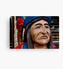 Wooden Indian Canvas Print
