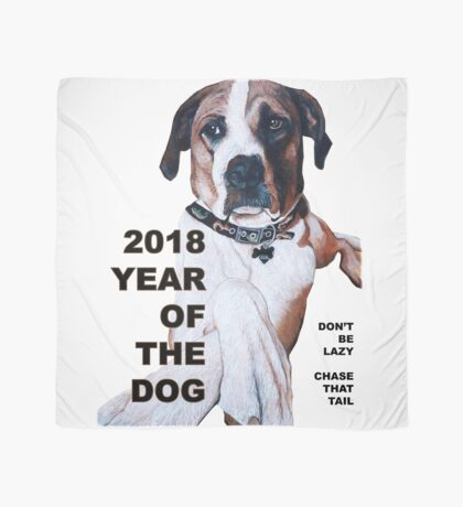 The Year of the Dog 2018 Scarf