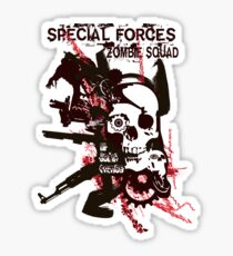 Special Forces Zombie Squad Sticker
