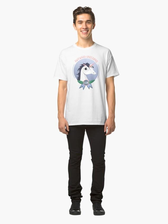 Alternate view of Awkward Unicorns Club Classic T-Shirt