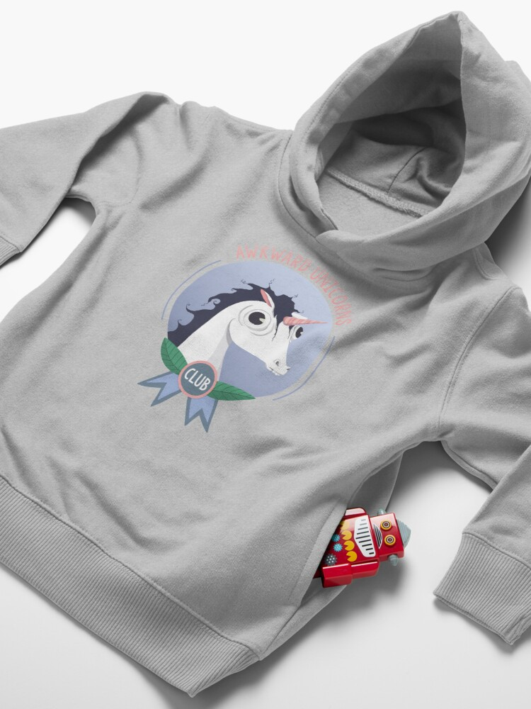 Alternate view of Awkward Unicorns Club Toddler Pullover Hoodie