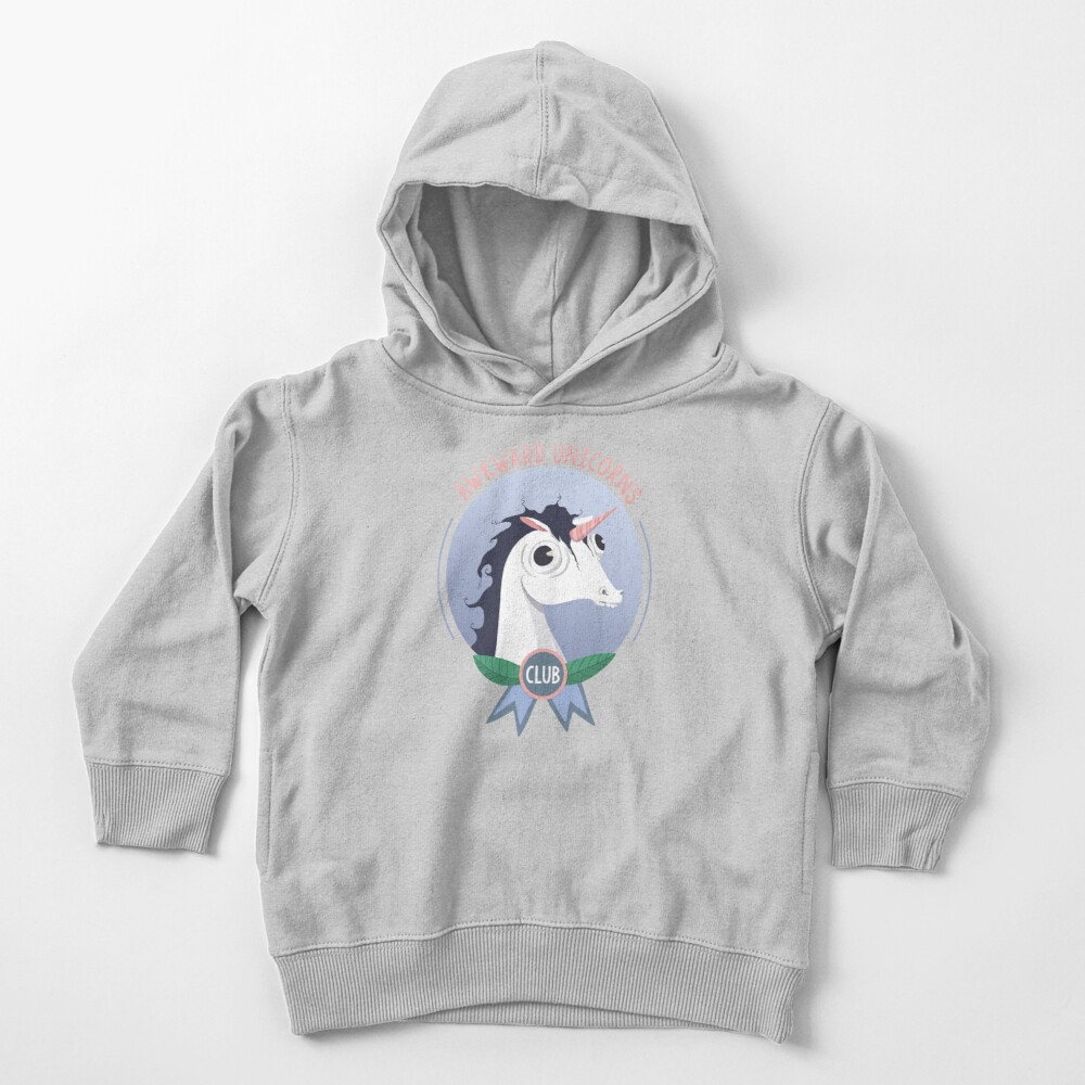 Awkward Unicorns Club Toddler Pullover Hoodie