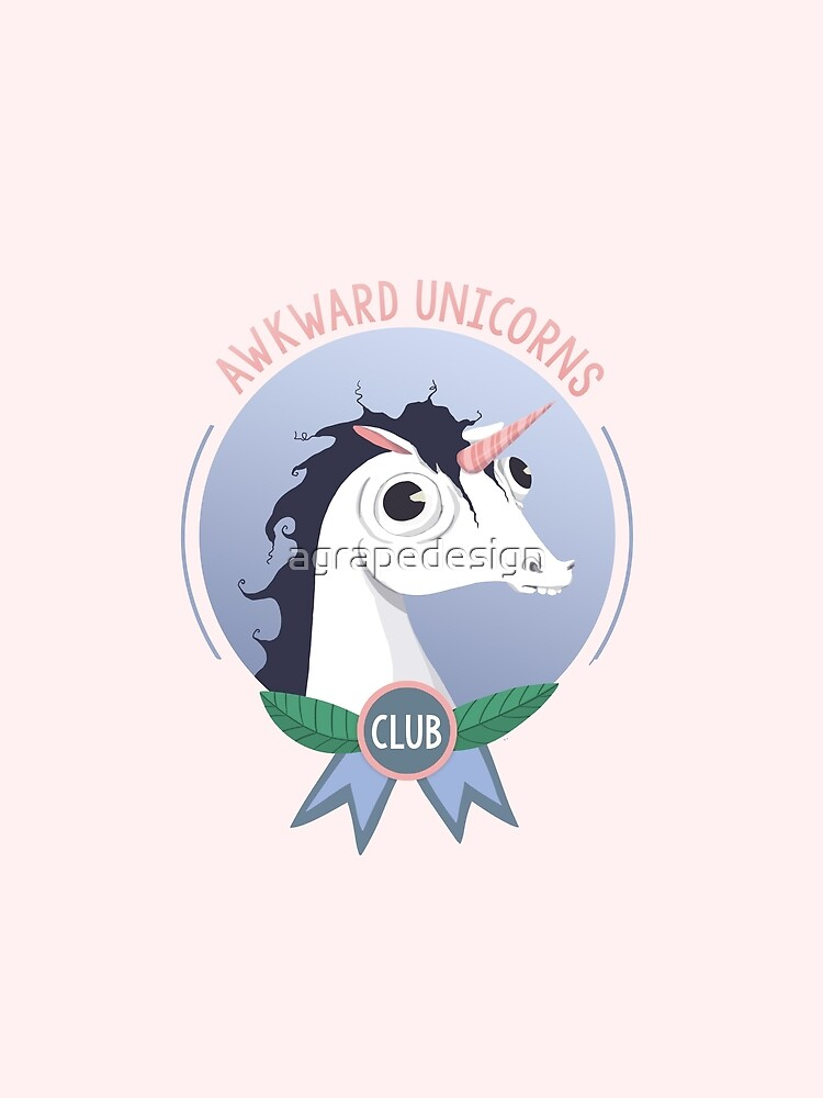 Awkward Unicorns Club by agrapedesign