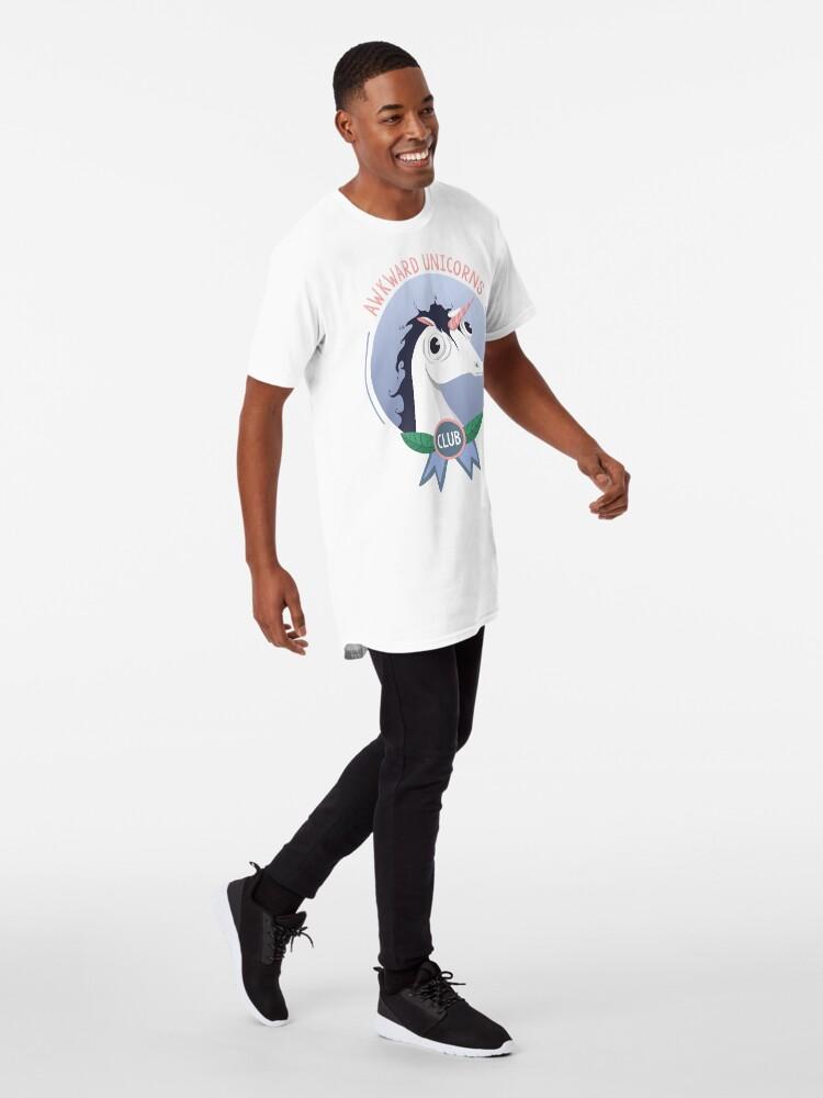 Alternate view of Awkward Unicorns Club Long T-Shirt