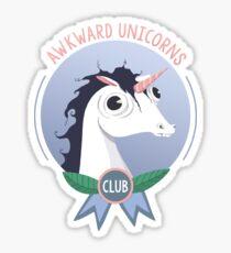 Awkward Unicorns Club Sticker