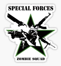 Special Forces Zombie Squad II Sticker