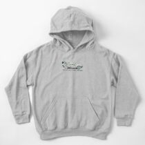 where we're going, we don't need roads Kids Pullover Hoodie