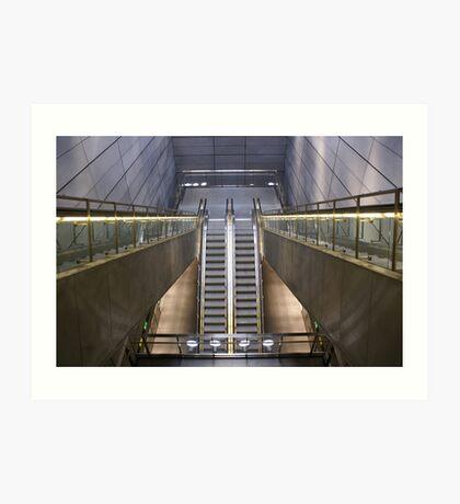 Kopenhagen subway station (1) Art Print