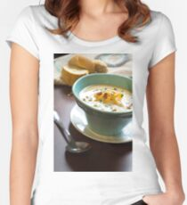 Loaded Baked Potato Soup Women's Fitted Scoop T-Shirt