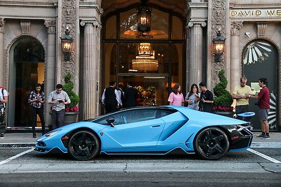 Blu Cepheus Lamborghini Centenario Photographic Print By