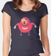 Uganda Knuckles Meme Women's Fitted Scoop T-Shirt