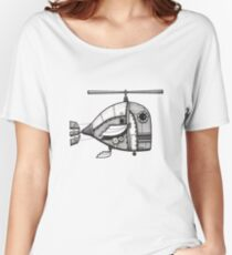 Fishcopter Takes Flight Women's Relaxed Fit T-Shirt