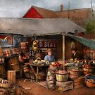 Store - Fruit - Grand dad's fruit stand 1939 by Michael Savad