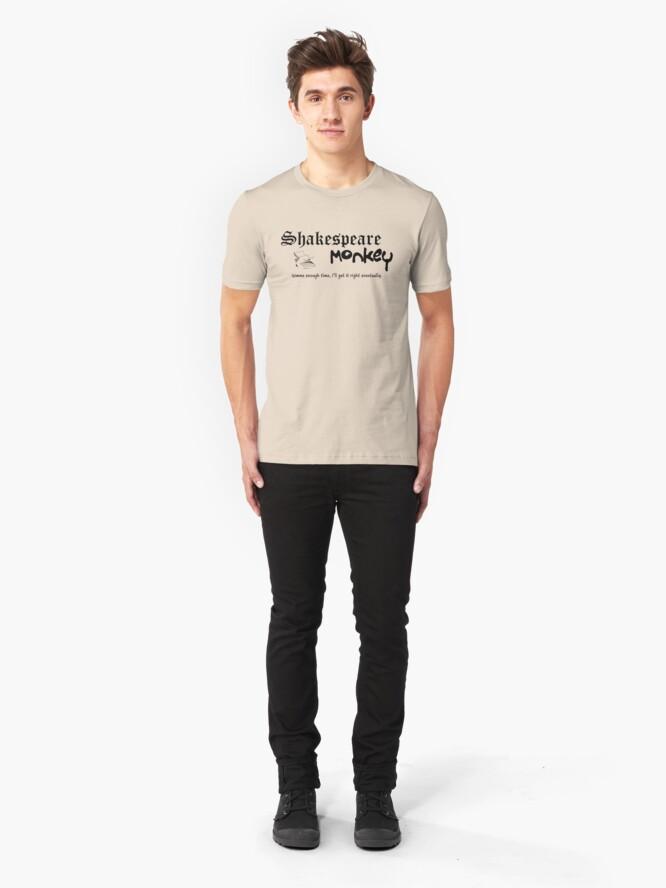 Alternate view of Shakespeare Monkey Slim Fit T-Shirt