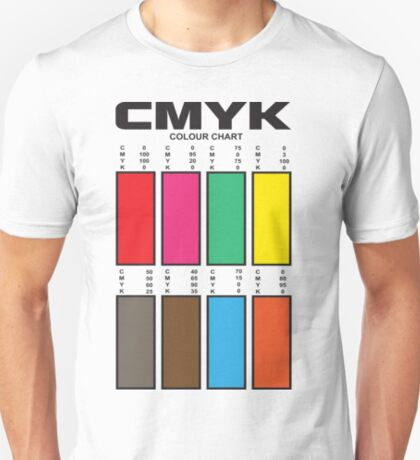CMYK Color Chart T-Shirt