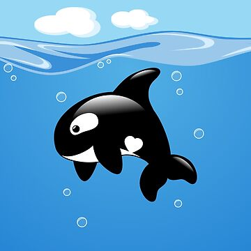 Cute Little Orca, Killer Whale by chibibikun