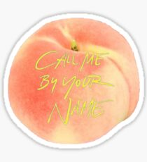 Call Me By Your Name Peach Sticker