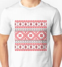 Ukraine Pattern - Ukrainian embroidery: вишивка, vyshyvka #Ukraine #Pattern #Ukrainian #embroidery #вишивка #vyshyvka #UkrainePattern #UkrainianEmbroidery Unisex T-Shirt