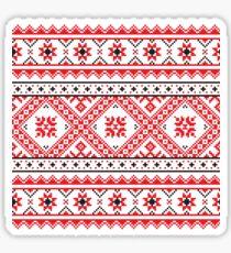 Ukraine Pattern - Ukrainian embroidery: вишивка, vyshyvka Sticker