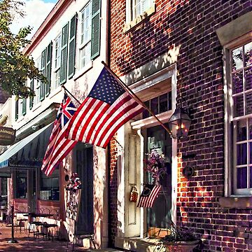 Fredericksburg VA - Street With American Flags by SudaP0408