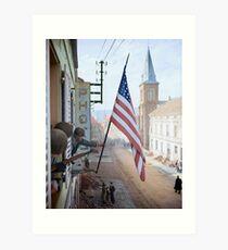 Lámina artística Capitán Thomas H. Garahan, compañía 'Easy' - Francia, 1945